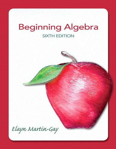 Beginning Algebra 9780321784919