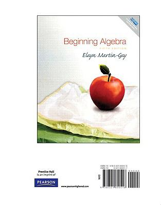 Beginning Algebra, Books a la Carte Edition 9780321600516