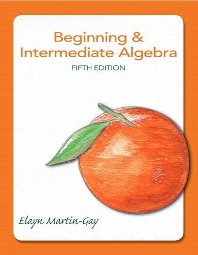 Beginning & Intermediate Algebra 9780321785121