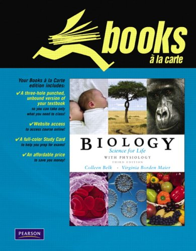 Biology, Science for Life with Physiology [With Study Cards] 9780321595959