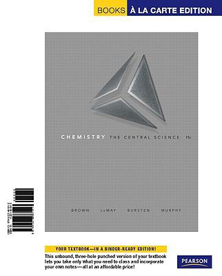Chemistry: The Central Science, Books a la Carte Edition 9780321661913