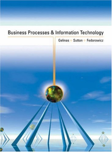Business Processes and Information Technology 9780324008784