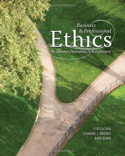 Business & Professional Ethics for Directors, Executives & Accountants 9780324594553