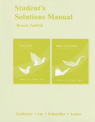 Calculus & Its Applications and Brief Calculus & Its Applications, Student's Solutions Manual 9780321599018