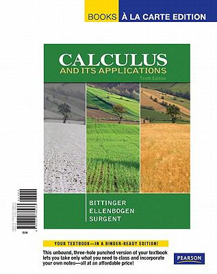 Calculus and Its Applications, Books a la Carte Edition 9780321738233