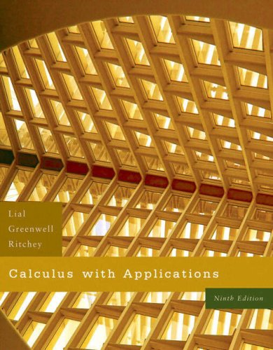 Calculus with Applications 9780321421326