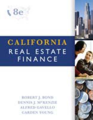 California Real Estate Finance 9780324378344