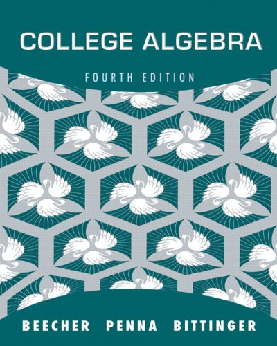 college algebra   4th edition