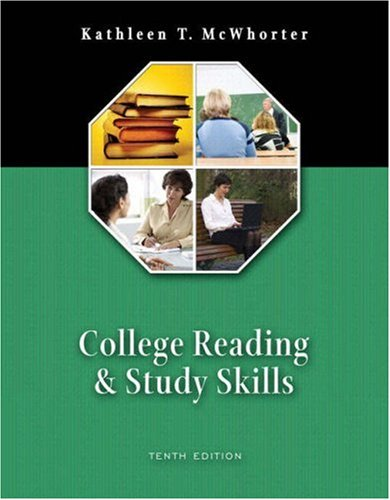 College Reading and Study Skills [With Student Access Code Card for Myreadinglab] 9780321478634