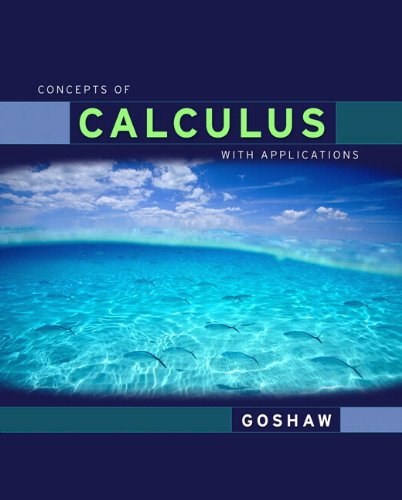 Concepts of Calculus with Applications 9780321577443