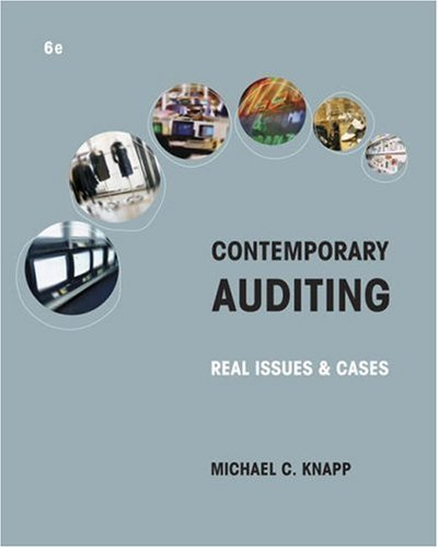 Contemporary Auditing: Real Issues and Cases 9780324303254