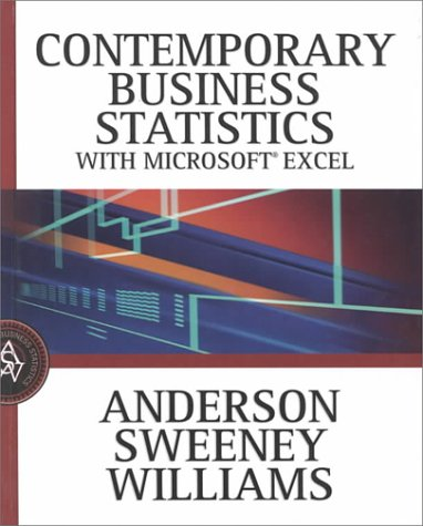 Contemporary Business Statistics Using Microsoft Excel [With CDROM] 9780324020830