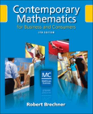 Contemporary Mathematics for Business and Consumers [With CDROM] 9780324568493
