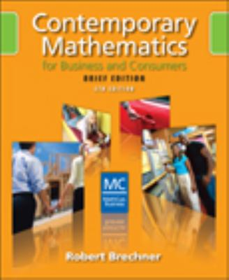 Contemporary Mathematics for Business and Consumers [With CDROM] 9780324658644