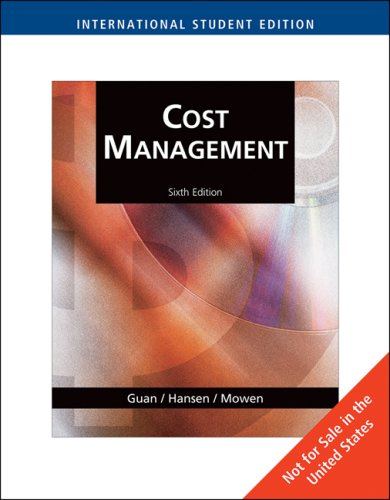 Cost Management: Accounting and Control 9780324657364