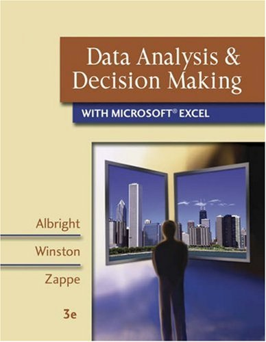 Data Analysis and Decision Making with Microsoft Excel [With CDROM and Infotrac] 9780324400823