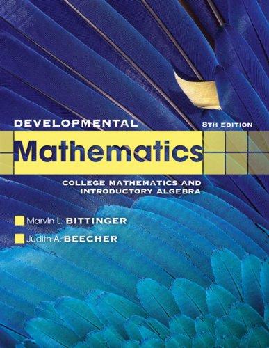 Developmental Mathematics: College Mathematics and Introductory Algebra 9780321731531