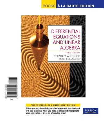 Differential Equations and Linear Algebra 9780321656520