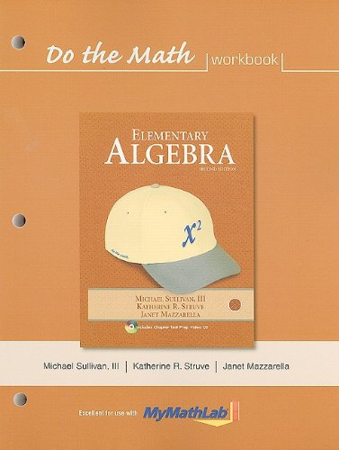 Do the Math: Elementary Algebra 9780321593122