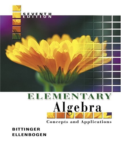 Elementary Algebra: Concepts and Applications 9780321233882