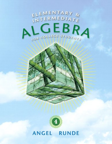Elementary And Intermediate Algebra For College Students By