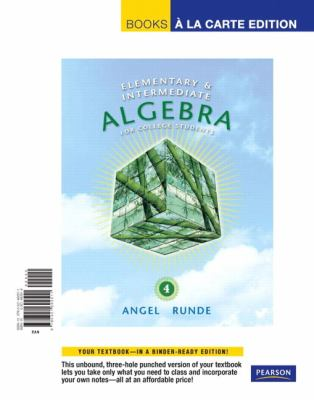 Elementary & Intermediate Algebra for College Students, Books a la Carte Edition 9780321692511