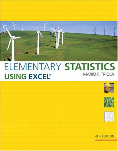 Elementary Statistics Using Excel [With CDROM] 9780321564962
