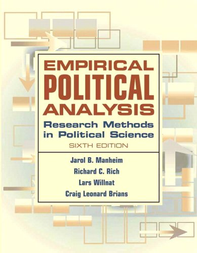 Empirical Political Analysis: Research Methods in Political Science 9780321298607