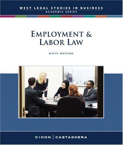 Employment & Labor Law 9780324663662