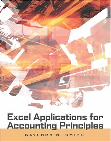 Excel Applications for Accounting Principles [With CDROM] 9780324270273