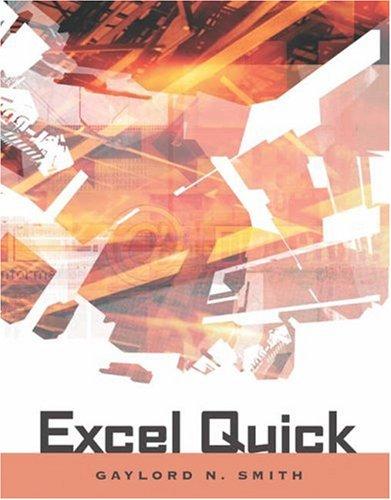 Excel Quick 9780324270327