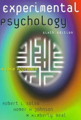 Experimental Psychology 9780321011466