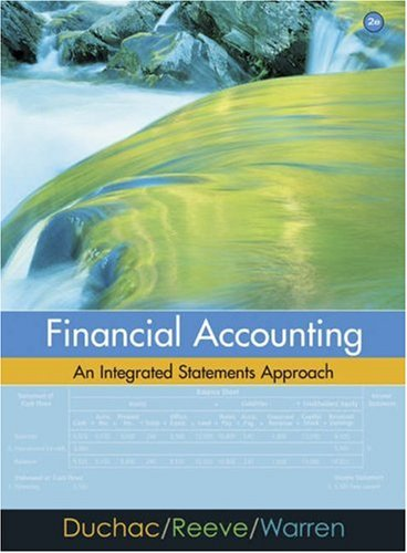 Financial Accounting: An Integrated Statements Approach 9780324312119