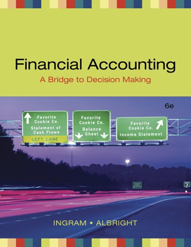 Financial Accounting: A Bridge to Decision Making 9780324313352