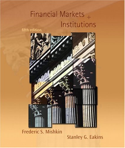 Financial Markets and Institutions 9780321280299