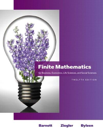 Finite Mathematics for Business, Economics, Life Sciences and Social Sciences 9780321614018