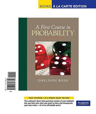 First Course in Probability, A, Books a la Carte Edition 9780321656810
