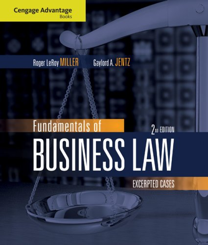 Fundamentals of Business Law: Excerpted Cases 9780324595727