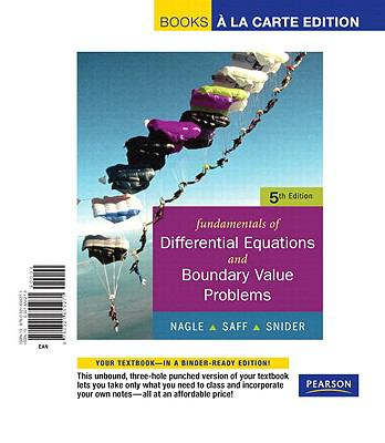 Fundamentals of Differential Equations with Boundary Value Problems with Ide CD, Books a la Carte Edition 9780321655271