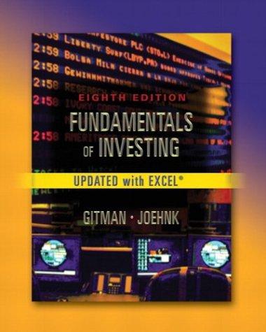 Fundamentals of Investing, Update 9780321200709