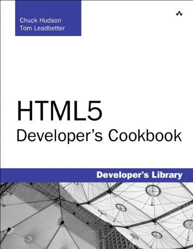 Html5 Developer's Cookbook 9780321769381