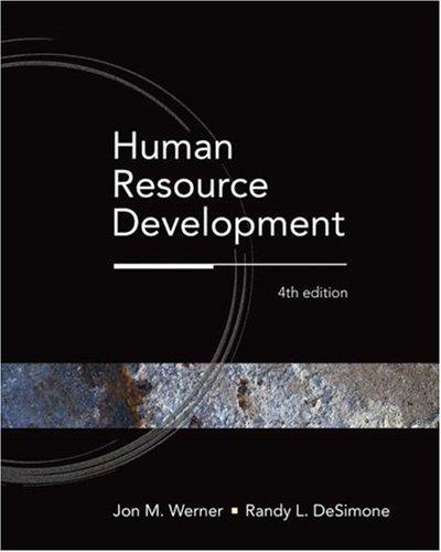 Human Resource Development 9780324319781
