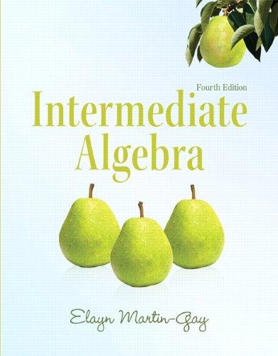 Intermediate Algebra 9780321726377