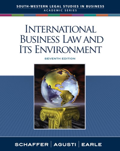 International Business Law and Its Environment 9780324649673