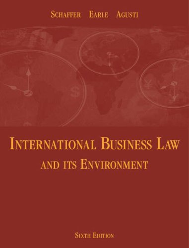 International Business Law and Its Environment 9780324261028