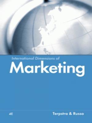 International Dimensions of Marketing 9780324014914