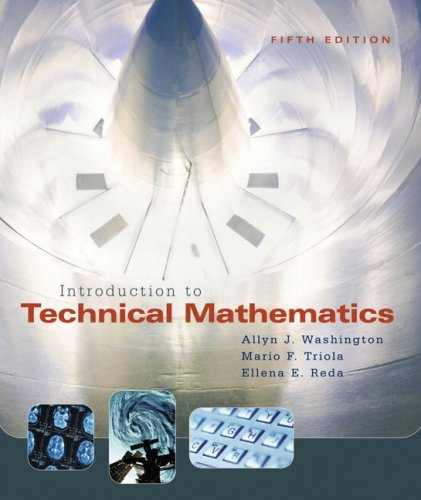 Introduction to Technical Mathematics 9780321374172