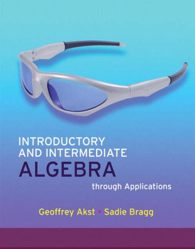 Introductory and Intermediate Algebra Through Applications [With CDROM] 9780321535788