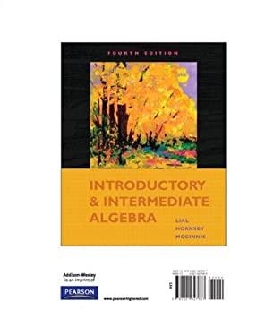 Introductory & Intermediate Algebra 9780321627667