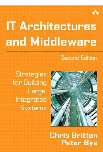 It Architectures and Middleware: Strategies for Building Large, Integrated Systems 9780321246943